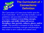 the curriculum of connections definition1