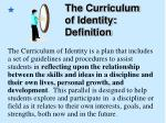 the curriculum of identity definition