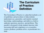 the curriculum of practice definition