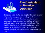 the curriculum of practice definition1