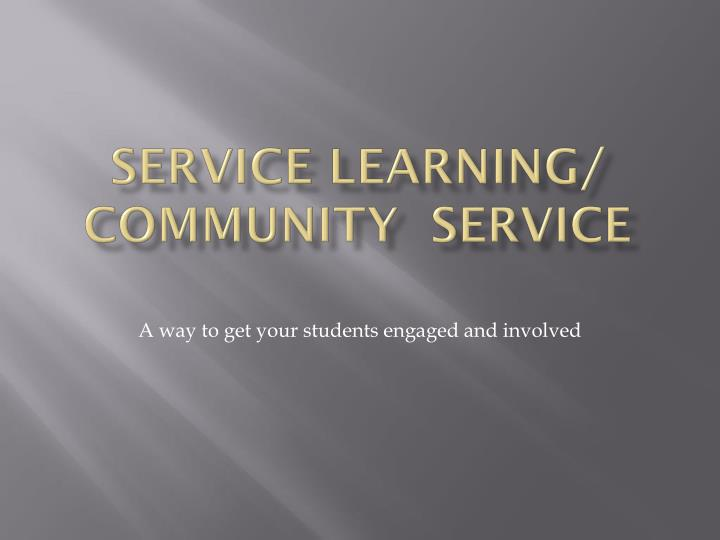 service learning community service n.
