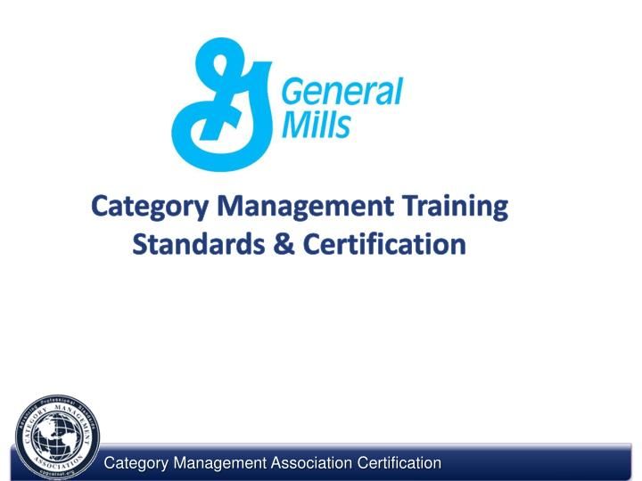 category management training standards certification n.