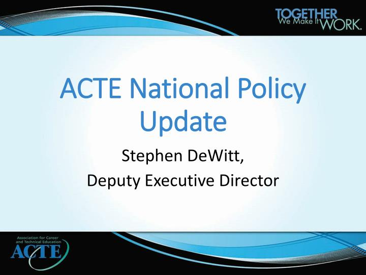 acte national policy update n.