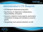 administration s cte blueprint