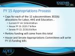 fy 15 appropriations process1