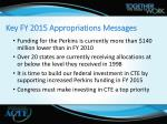 key fy 2015 appropriations messages