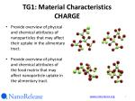 tg1 material characteristics charge