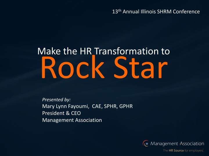 make the hr transformation to rock star n.