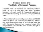 coastal states and the right of innocent passage