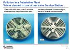 pollution in a polyolefine plant valves cleaned in one of our valve service station