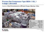 process gas compressor type 6b6a 1 100 1 6 stage lubricated