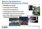 what you can expect from burckhardt compression as a partner