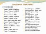 fdm data measures2