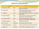 fdm etl procedures