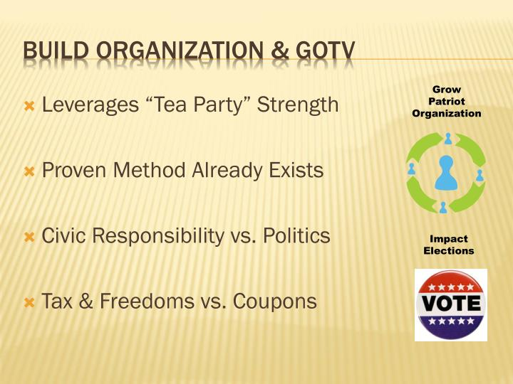 """Leverages """"Tea Party"""" Strength"""