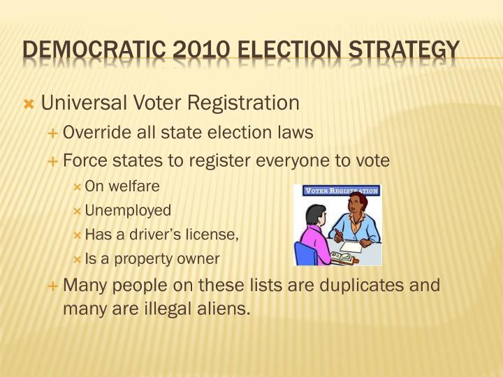 Universal Voter Registration