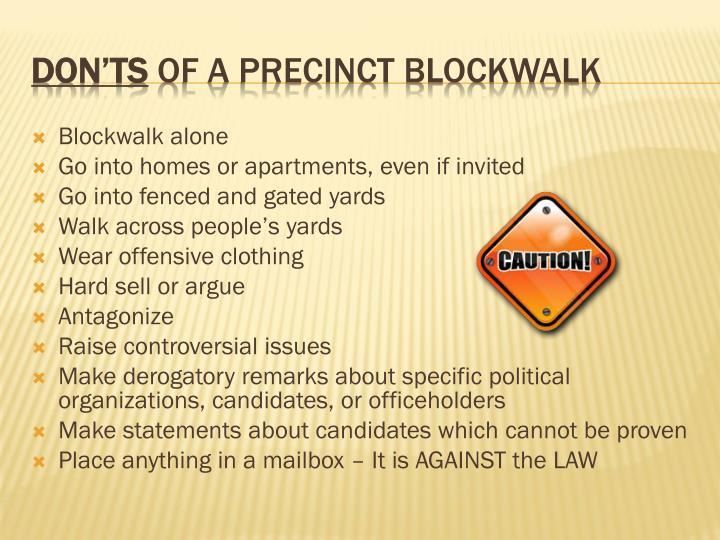 Blockwalk alone