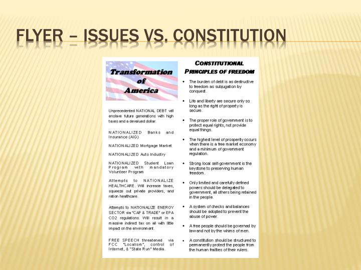 Flyer – Issues vs. Constitution