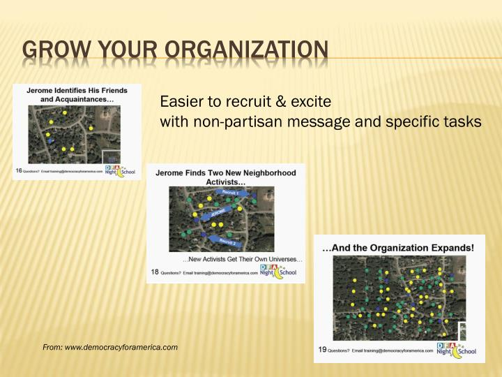 Grow your organization