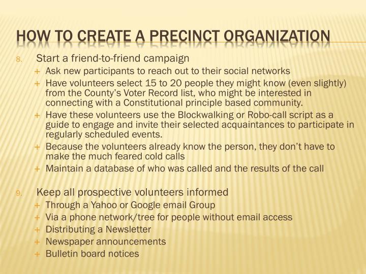 Start a friend-to-friend campaign