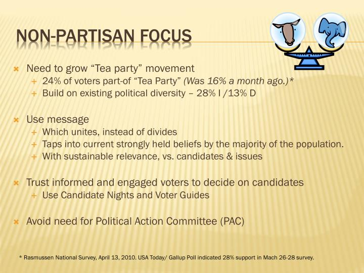 """Need to grow """"Tea party"""" movement"""