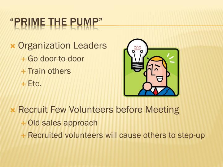 Organization Leaders
