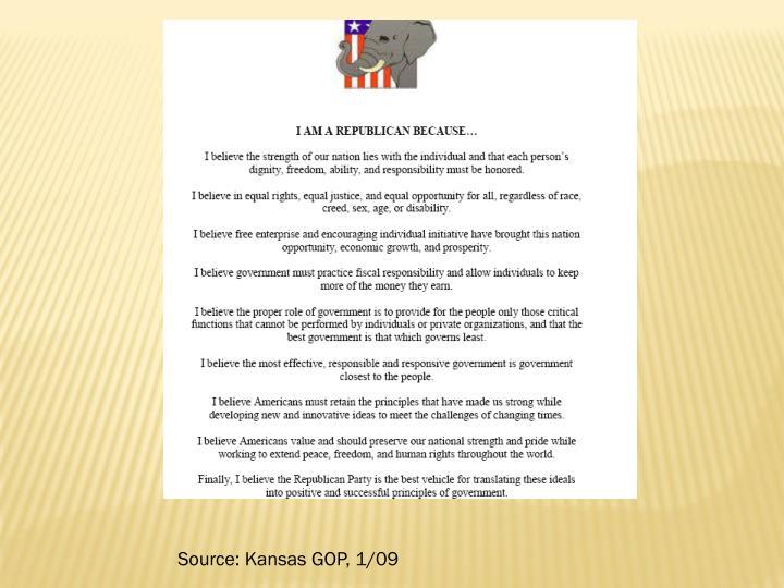 Source: Kansas GOP, 1/09