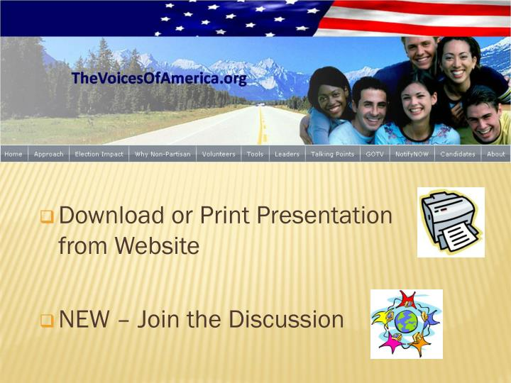 Download or Print Presentation  from Website