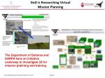 dod is researching virtual mission planning