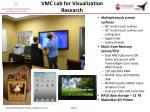 vmc lab for visualization research