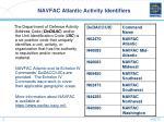 navfac atlantic activity identifiers