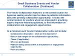 small business events and vendor collaboration continued1