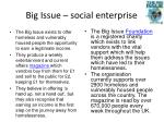 big issue social enterprise