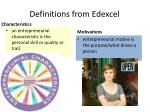 definitions from edexcel