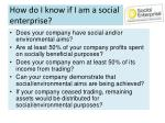how do i know if i am a social enterprise