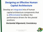 designing an effective human capital architecture