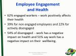 employee engagement and health