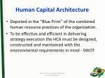 human capital architecture