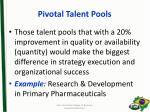 pivotal talent pools1