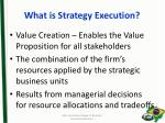 what is strategy execution
