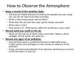 how to observe the atmosphere