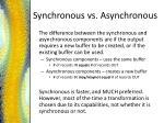 synchronous vs asynchronous