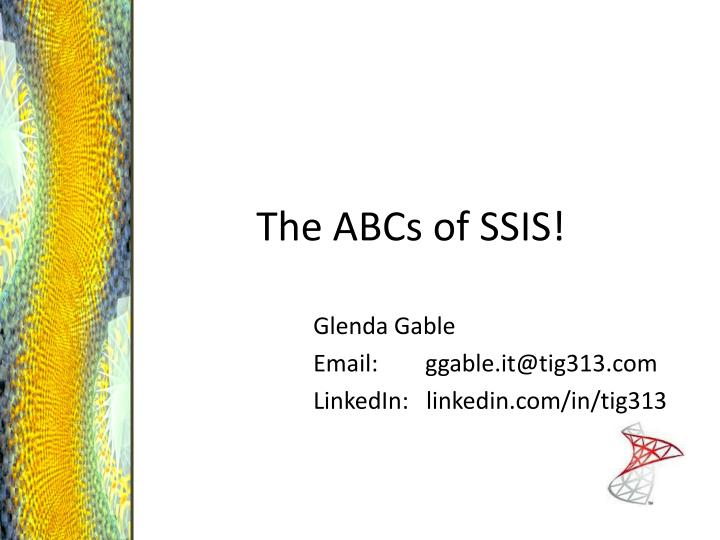 the abcs of ssis n.