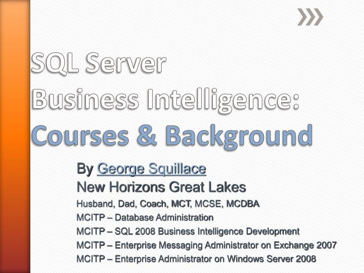 sql server business intelligence courses background n.