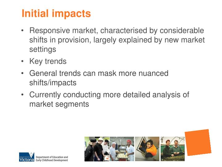 Initial impacts