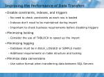 improving the performance of data transfers