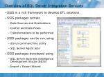overview of sql server integration services