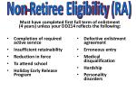 must have completed first full term of enlistment 4 years unless your dd214 reflects the following