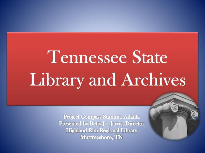 tennessee state library and archives n.