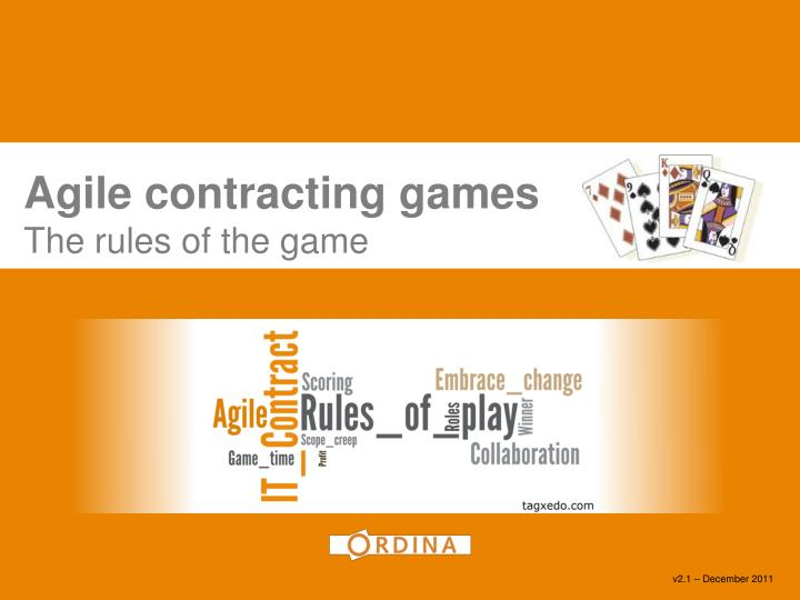 agile contracting games the rules of the game n.